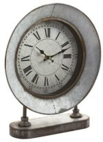 Galvanized Farmhouse Clock
