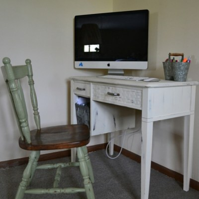Repurposed Thrift Store Office Chair