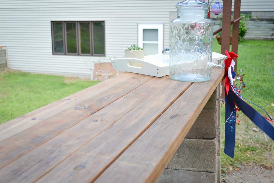 DIY Planked Patio Bar
