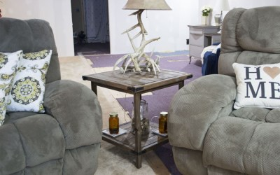 DIY Rustic Farmhouse Living Room Side Table