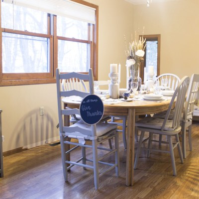 Rustic Thanksgiving Tablescape & Blog Hop