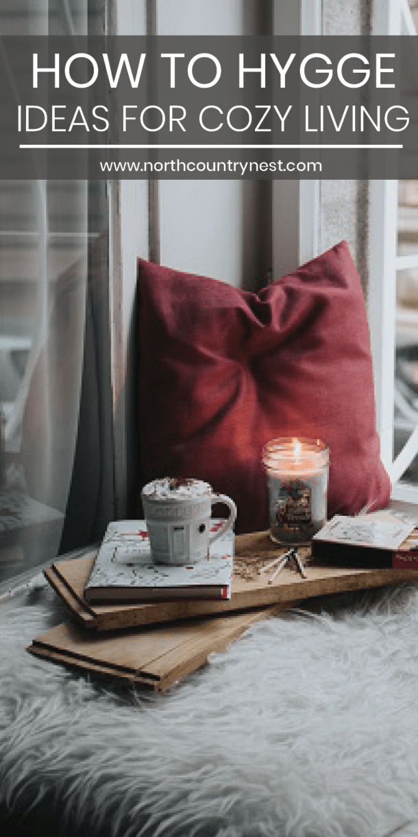 cozy blanket with candles and a blanket