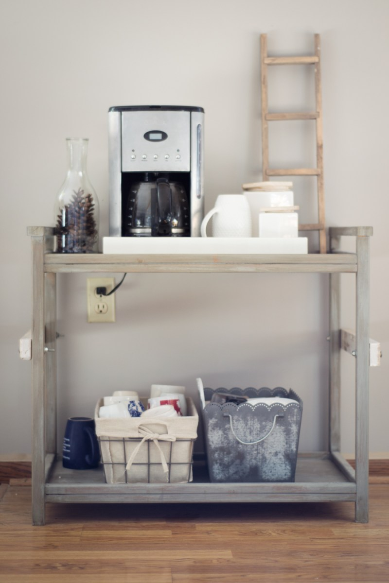 Home Decor Ideas: Industrial Farmhouse Coffee Bar
