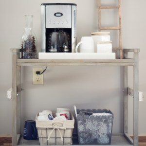 Industrial Farmhouse Coffee Bar