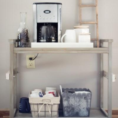 Home Decor Ideas: Industrial Farmhouse Coffee Bar