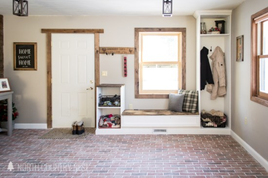 interior brick flooring in the entryway