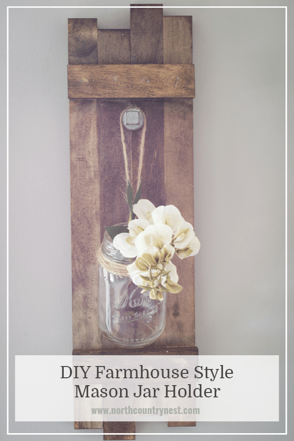 scrap wood projects - wooden mason jar holder