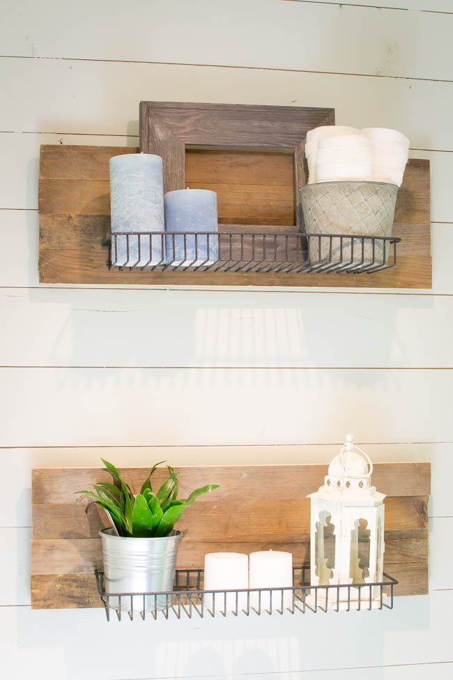 Guest Bathroom Reclaimed Industrial Shelving