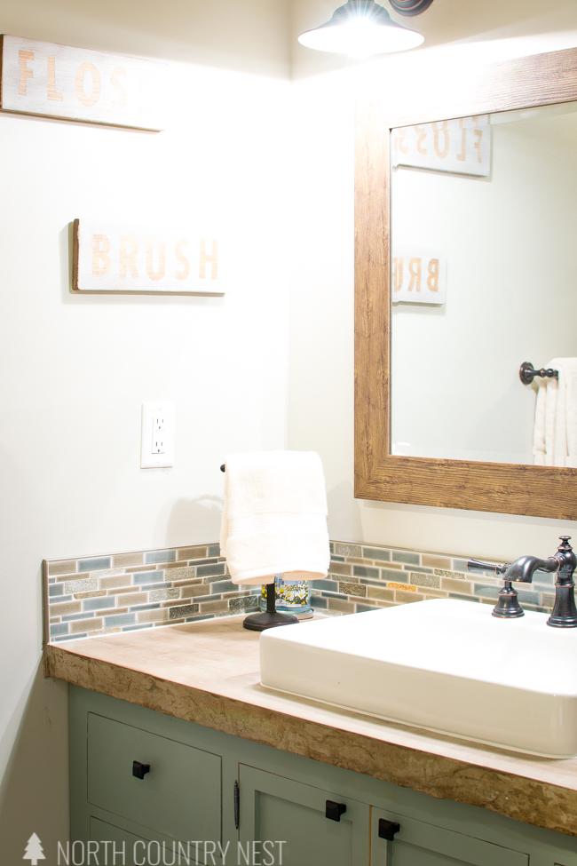 industrial farmhouse guest bathroom renovation