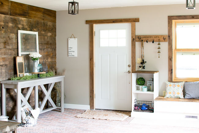 entryway summer home tour