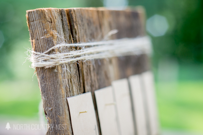 diy rustic wedding seating chart