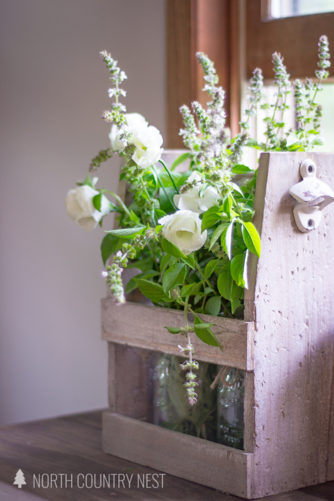 late summer entrway home decor