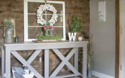 Late Summer Entryway Home Decor