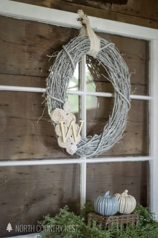 DIY Neutral Fabric Scrap Wreath
