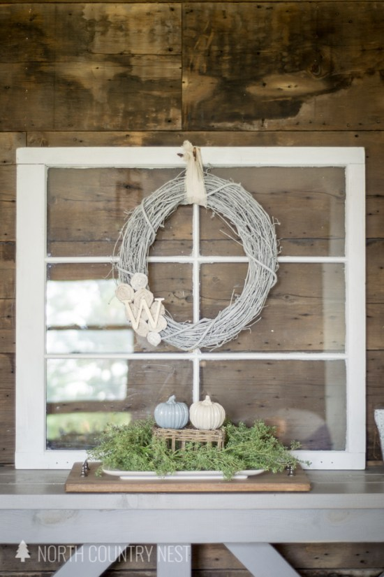 DIY Neutral Fabric Scrap Wreath