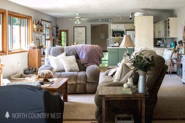 neutral fall home decor