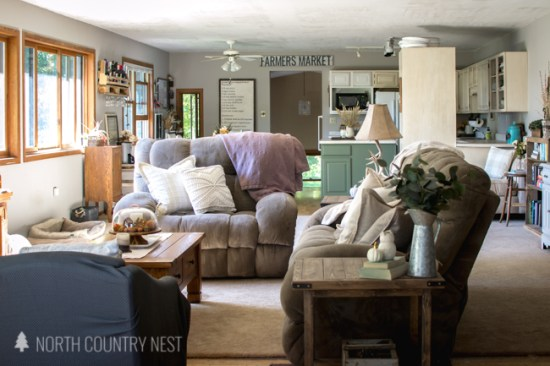 neutral fall home decor