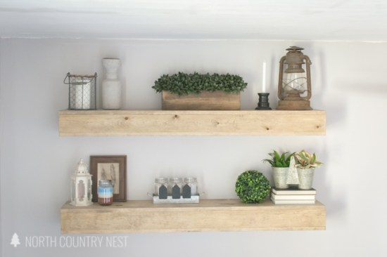DIY Guest Bedroom Shelving