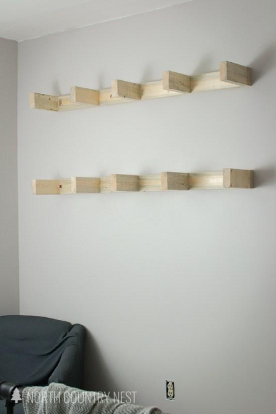 DIY Guest Bedroom Shelves