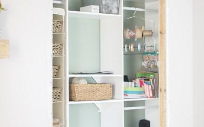 One Room Challenge Week Six: The Craft Closet Organization