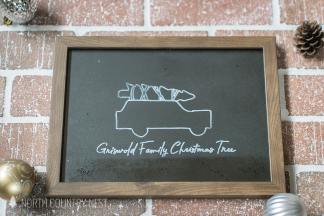 Christmas Vacation DIY chalkboard sign
