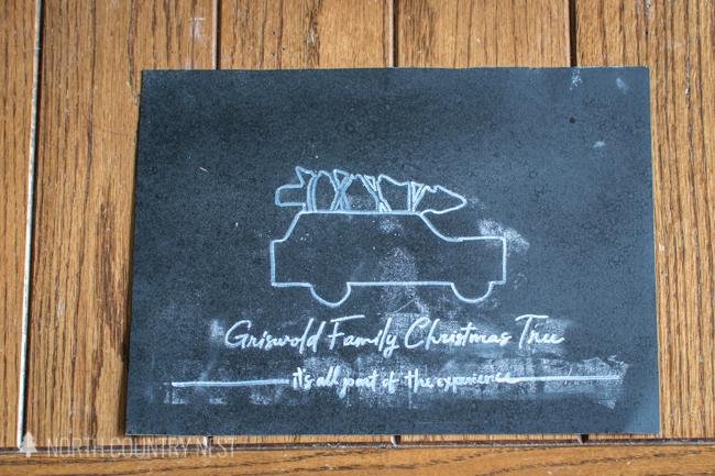 Christmas Vacation chalkboard sign