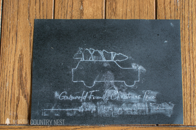 Christmas Vacation chalkboard sign