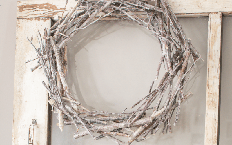 DIY Winter Twig Wreath