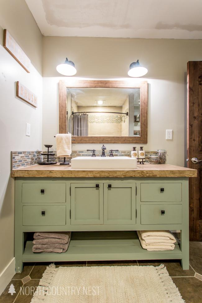 guest bathroom final reveal