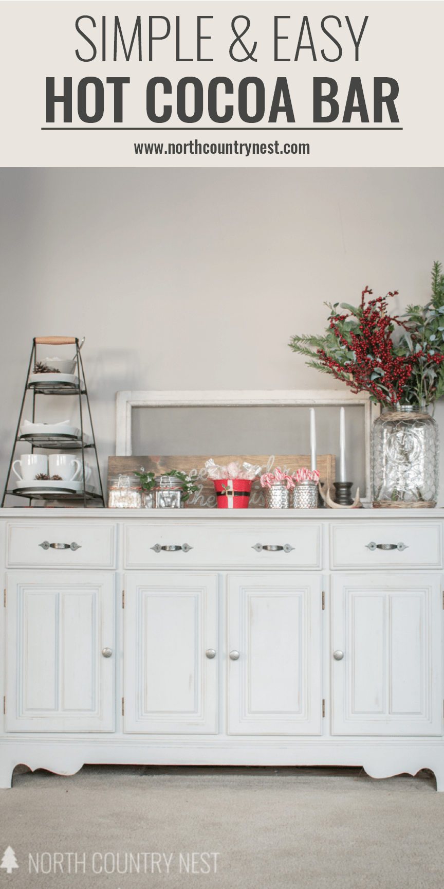simple and easy hot cocoa bar