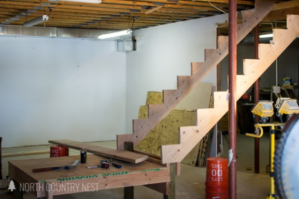 how to install stairs, basement stairs