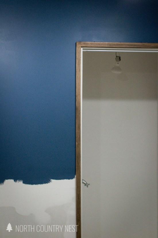 dark trim around doorframe