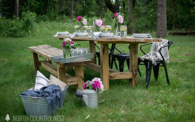 Simple Summer Table Decor + Blog Hop