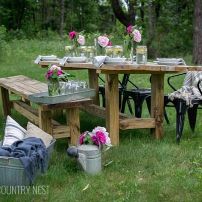 Simple Summer Table Decor + Blog Hop