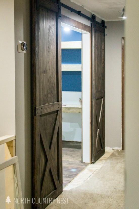 wooden barn doors for home office