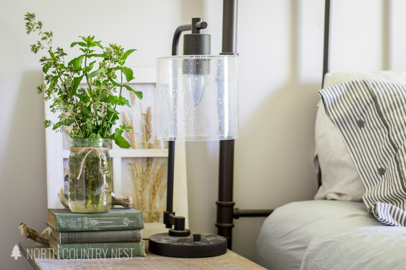 industrial lamp with mason jar