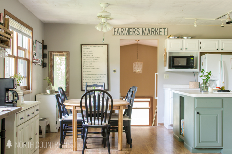 rustic decor for kitchen and dining room