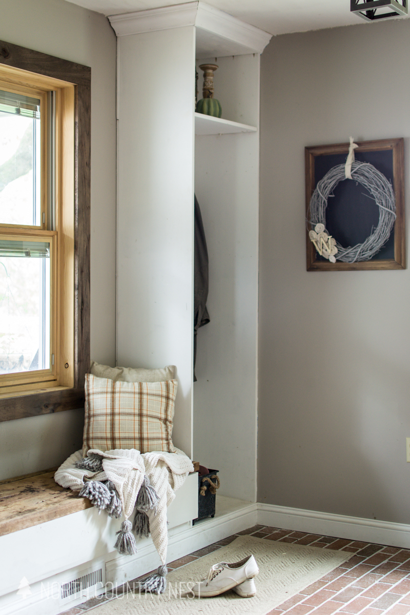 fall entryway built-ins