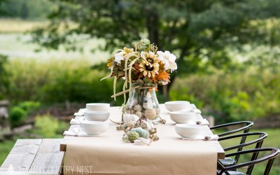Rustic Fall Tablescape + Blog Hop