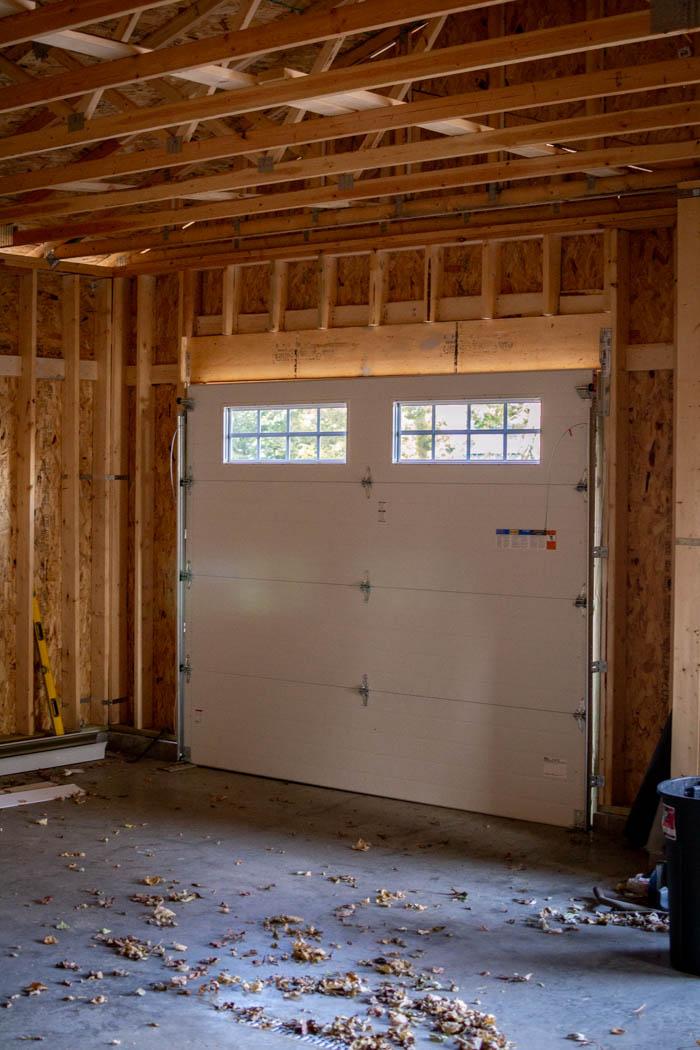 inside of garage door