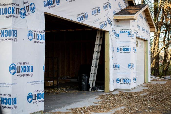 double garage door opening
