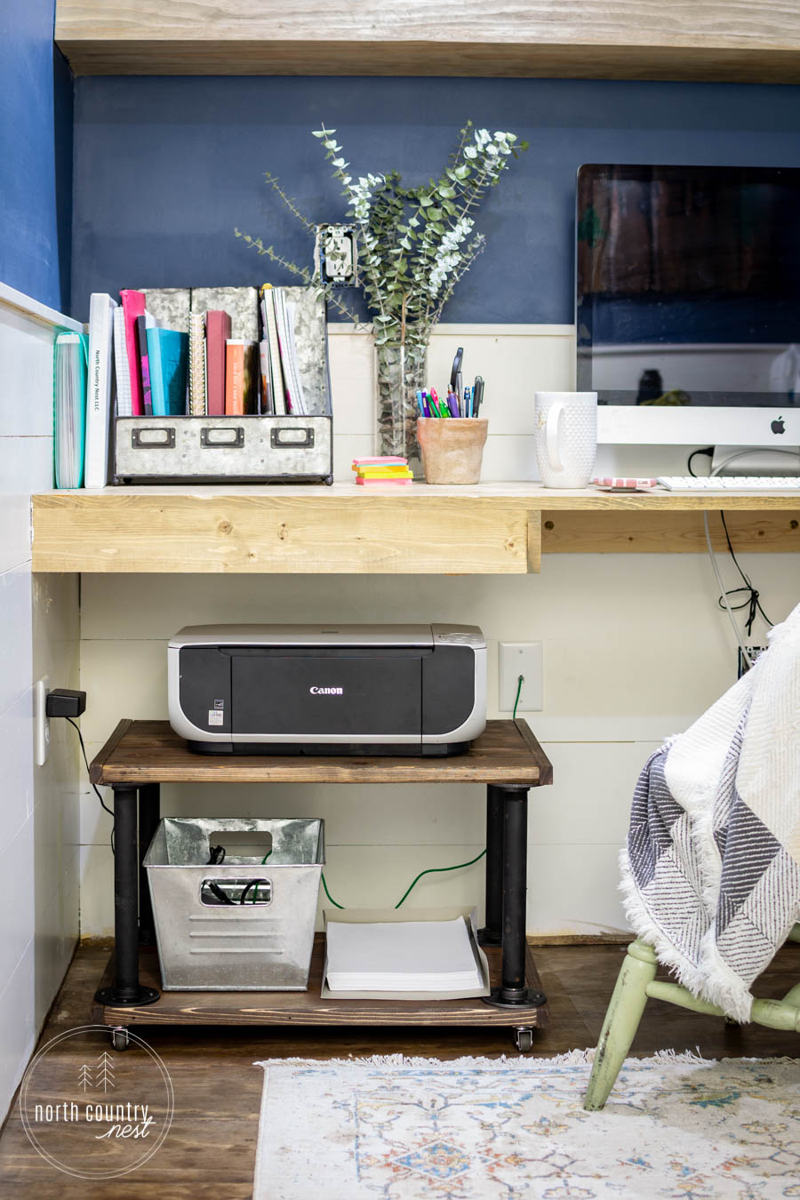 home office industrial printer cart