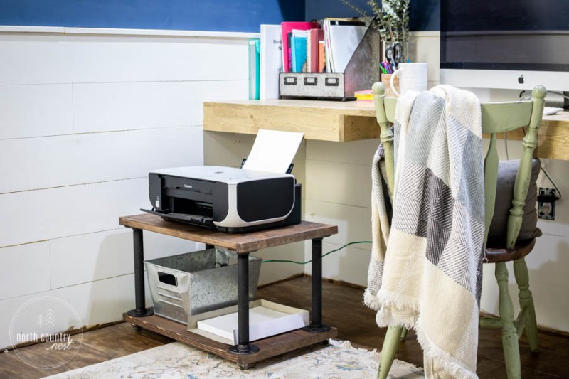 industrial home office printer cart