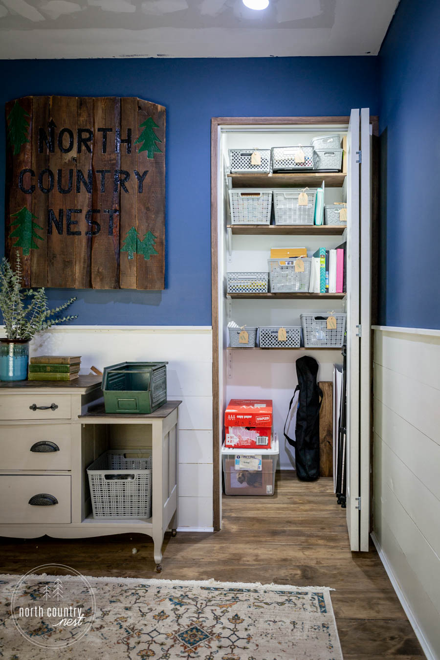 small home office closet