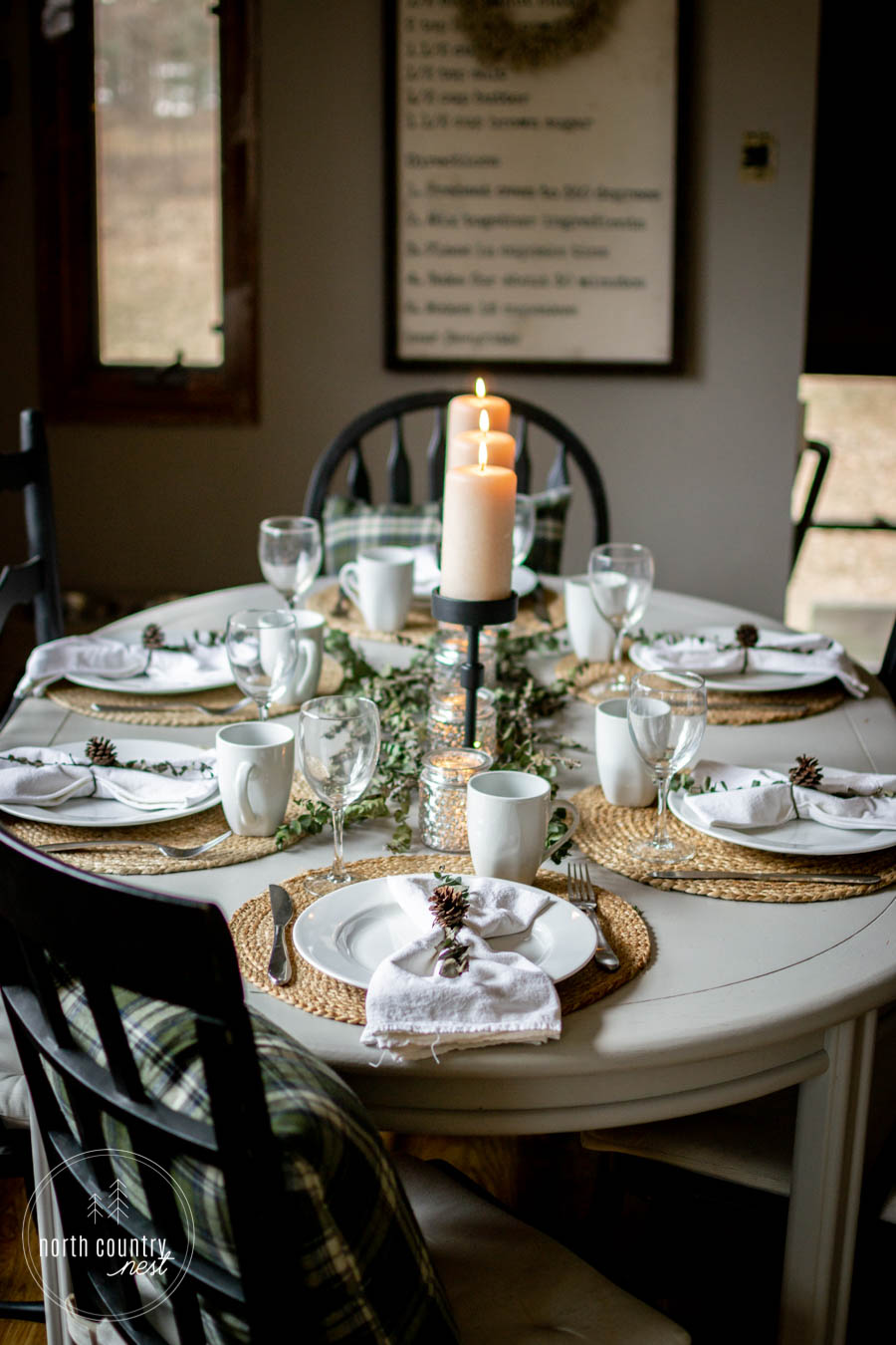 natural holiday tablescape