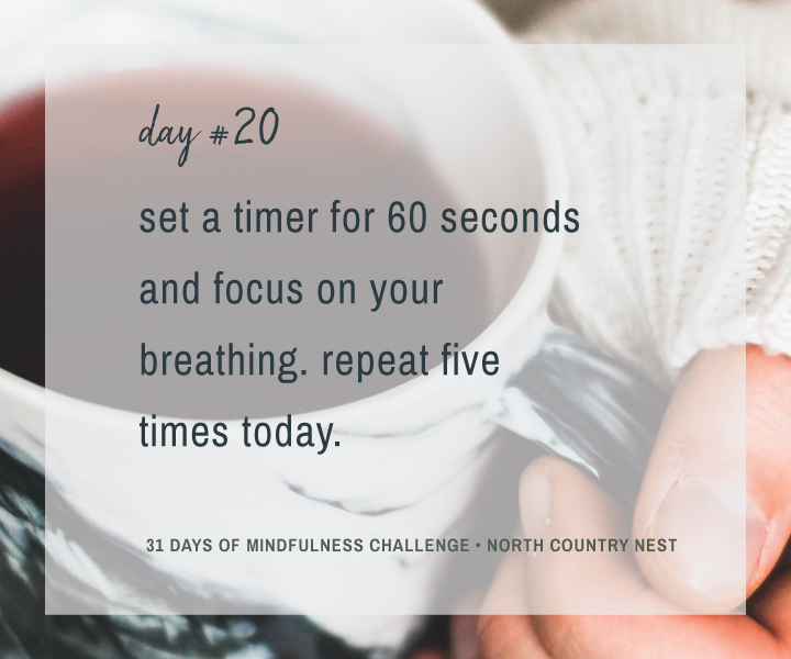 Mindfulness Challenge Day 20: Focus on Your Breathing