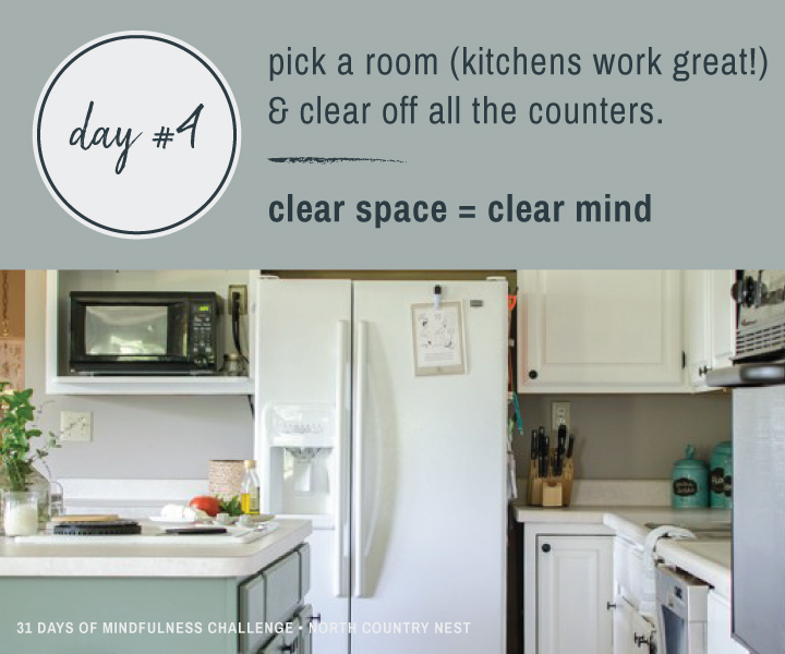 Mindfulness Challenge Day 4: Clean Off the Counters