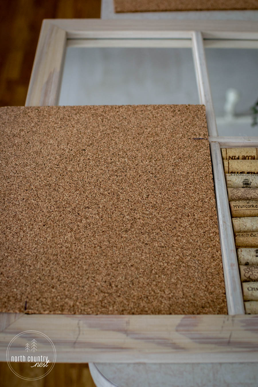 DIY home office cork board