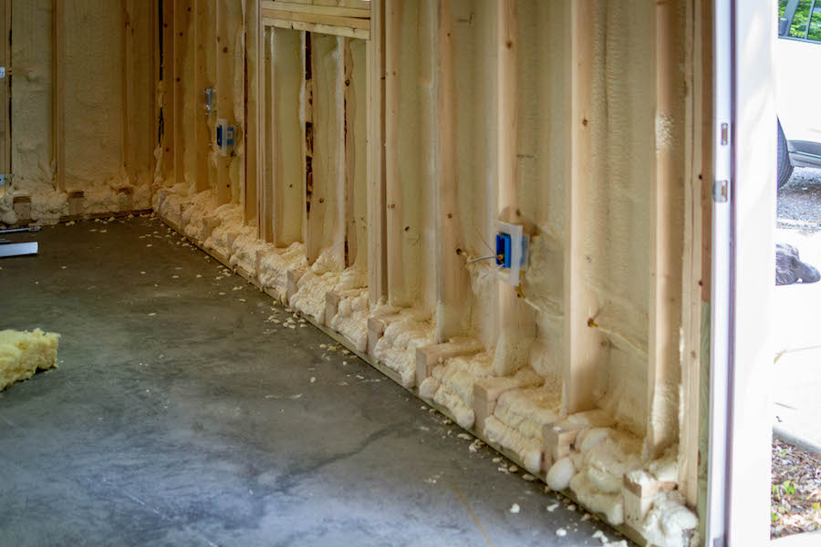 spray foam insulation in garage