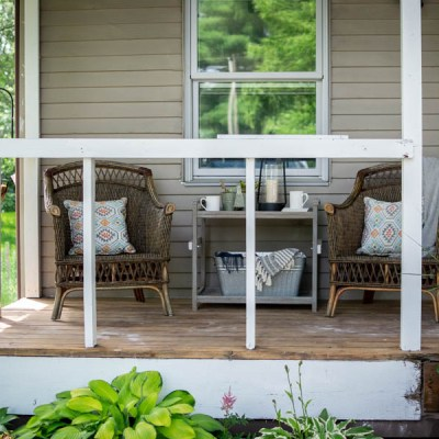 Colorful Summer Porch Decor